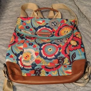Recycled material backpack